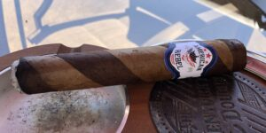 Read more about the article American Rebel Barber Pole Double Toro Cigar Review